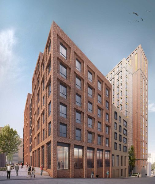 Brookfield Student Real Estate and HLM's plan for a �60m student flat development in Hollis Croft, Sheffield. #socialsheffield