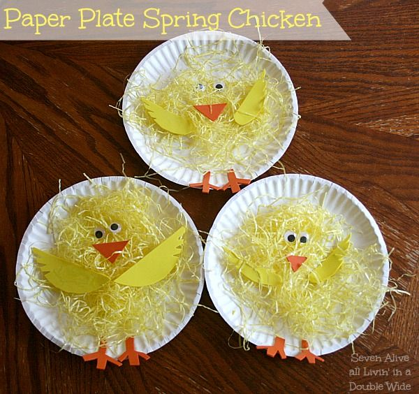 Seven Alive: Paper Plate Spring Chickens