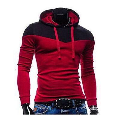 Ανδρικά+Σετ+Activewear+Καθημερινό+Μακρυμάνικο+Απλό+Μείγμα+Βαμβακιού+–+EUR+€+12.73
