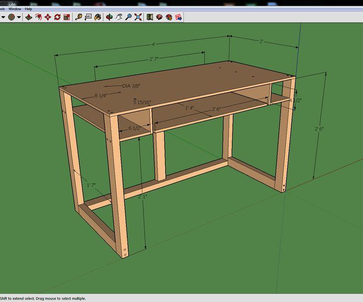 simple 2u0027 x 4u0027 computer desk - Cheap Computer Desk