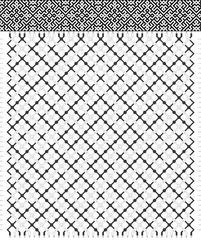 схема прямая фенечка - Поиск в Google