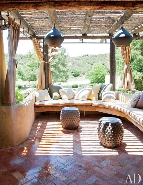 ♥ The pergola. That's what I want over my walkway in the back. Have 2 huge clumps of bamboo to thin .