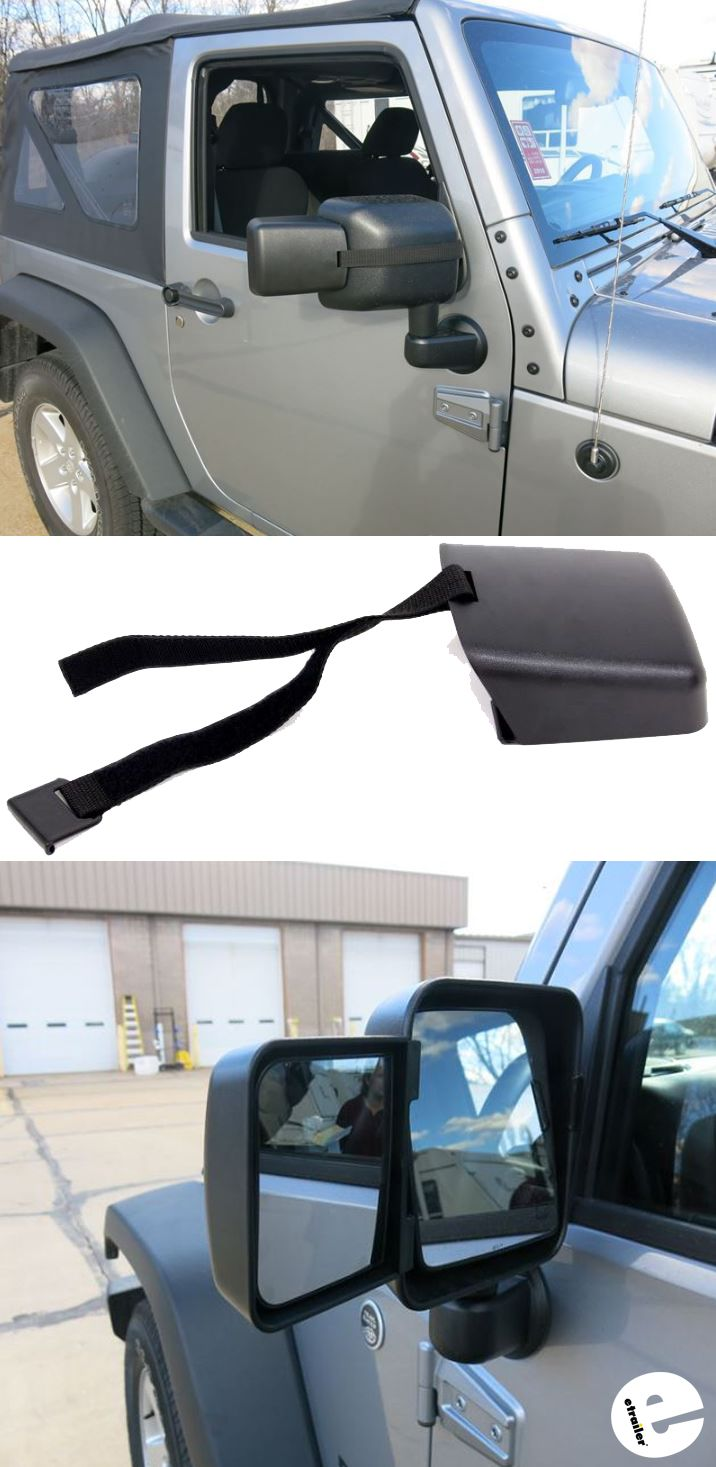 hight resolution of these rampage towing mirrors easily strap onto your jeep wrangler s oem side view mirrors