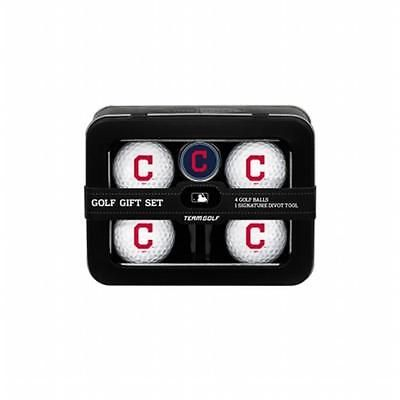 Team golf #95777 #cleveland #indians mlb 4 ball tin gift set,  View more on the LINK: 	http://www.zeppy.io/product/gb/2/391472907659/