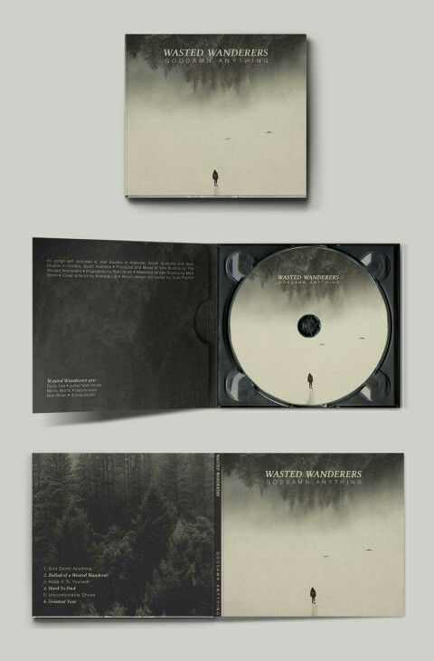 Album Cover Design for Wasted Wanderers EP 'Goddamn Anything'