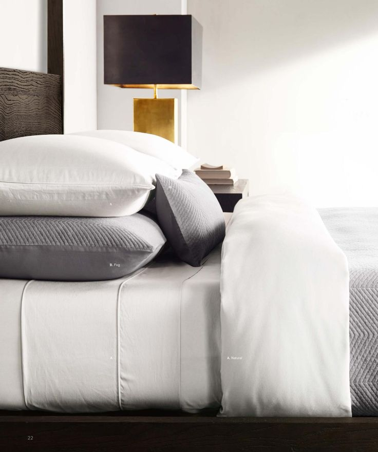 grey and white bedding in 2019 | Velvet bed, Classic