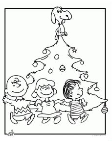 A Charlie Brown Christmas Coloring Activity
