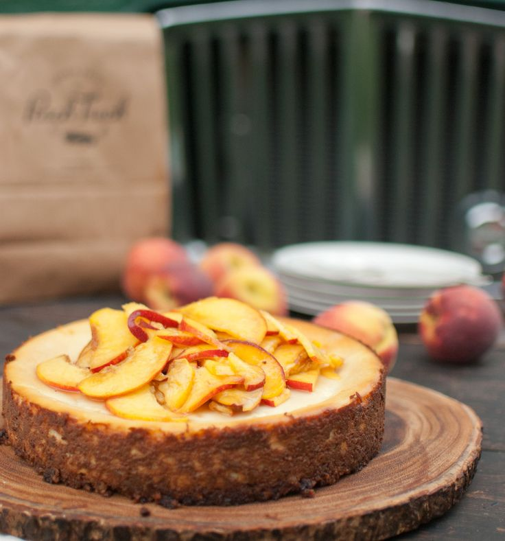 Peach Ricotta Cheesecake with Pecan Crust   The Peach Truck