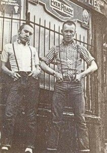 Early skinhead fashion, before the word got highjacked. via QueensOfVintage.com :o reminds me of greasers, both being music oriented and working class.