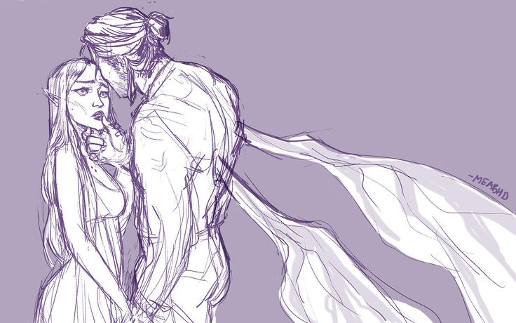 Sketch of Nesta and Cassian BY MEABHD ACOWAR ACOMAF ACOTARS SARAH J MAAS YOU OWN MY HEART OR OTHER