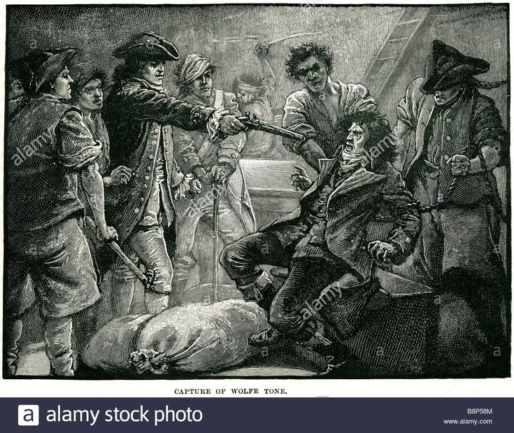 capture of wolfe tone Theobald 20 June 1763 – 19 November 1798 United Irishmen Irish independence movement republicanism - B8P58M from Alamy's library of millions of high resolution stock photos, illustrations and vectors.