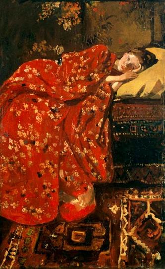 Breitner. The red kimono - voluptuous!!