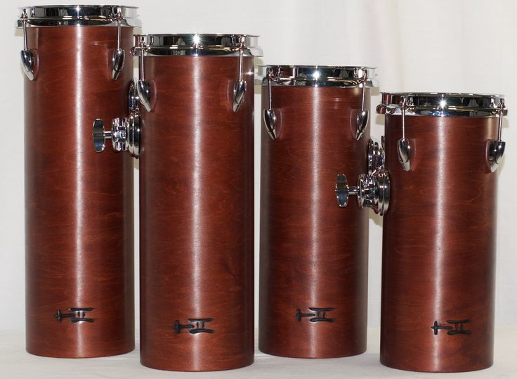https://flic.kr/s/aHskmUWQ3D | Nutty Tube Toms | Sometimes you just need to add 4 drums to your drumset! This is a great way to do it.  13½x6, 15x6, 16½x6, 18x6; plied maple; shiny wax.  To see more pix, and search our entire TreeHouse archive for your favorite specs, visit our photo gallery:http://www.flickr.com/photos/treehousedrums/collections/