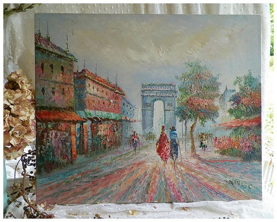 Vintage Original Davis Oil Painting On By