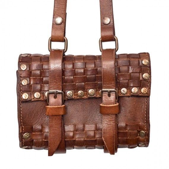 Woven Italian Leather Purse - Hip Bag (Brown, Coffee Brown, Black)