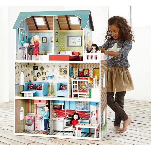 Casa de muñecas de madera Amanda Maison