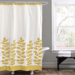 Lush Decor Vineyard Allure Yellow Shower Curtain