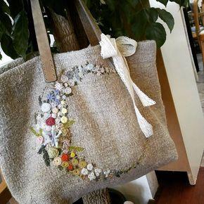 #Embroidery#stitch#needle work#hamp lien#hamp linen bag #프랑스자수#일산프랑스자수#자수#자수타그램#자수소품#햄프린넨#햄프린넨가방 #예쁘고~편해서~애착 햄프린넨가방~