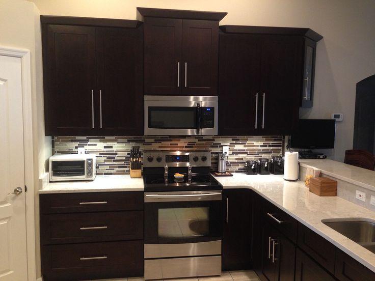 Shaker Espresso Kitchen Cabinets Made By Lily Ann Homedecor Http