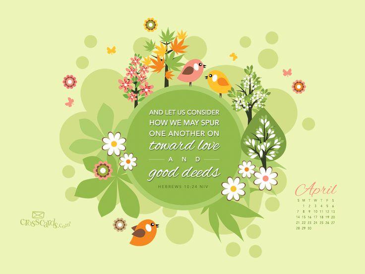 April 2013 - Hebrews 10:14 NIV - Wallpaper