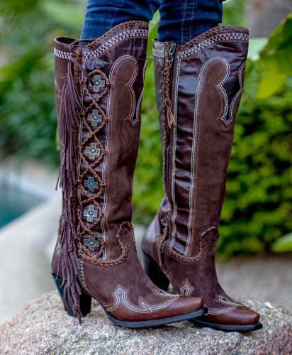 Domingo Fringed- Double D- Lane Cowgirl Boots