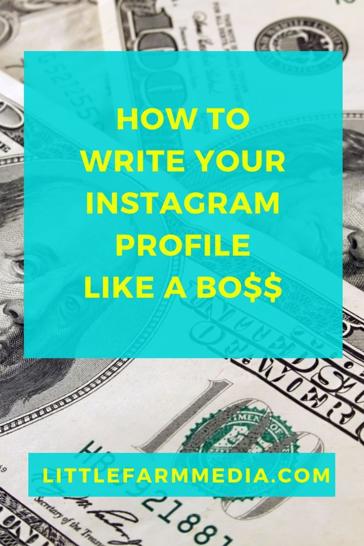 How to write your instagram profile like a boss — Little Farm Media