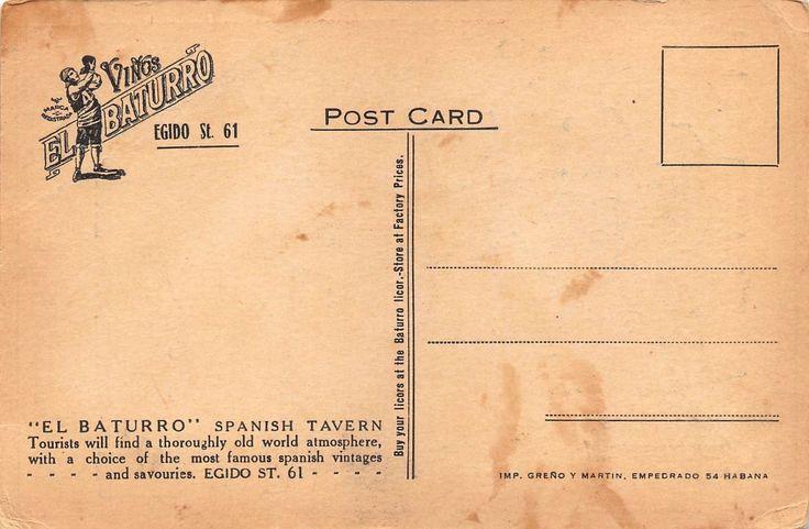 Cuban 1920's El Baturro Spanish Tavern in Havana Cuba La Habana | eBay
