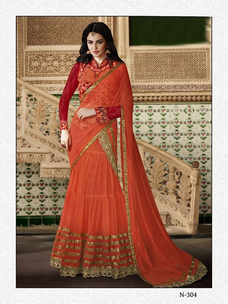 buy saree online Rust Colour Net Designer Wedding Wear Lehenga Choli Buy Saree online UK  - Buy Sarees online