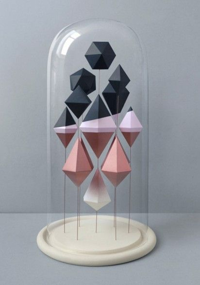 gorgeous geometric paper sculptures by @presentcorrect via @erinloechner