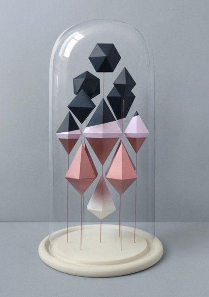 geometric paper sculptures: Idea, Inspiration, Art, Paper Sculptures, Geometric, Presents, Design