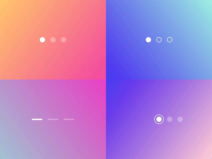 Page Control Indicator — Transitions Collection