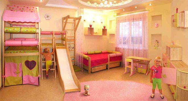 Тематический дизайн детской для девочки