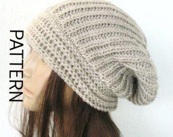 Knit hat pattern Digital Hat Knitting PATTERN French by Ebruk