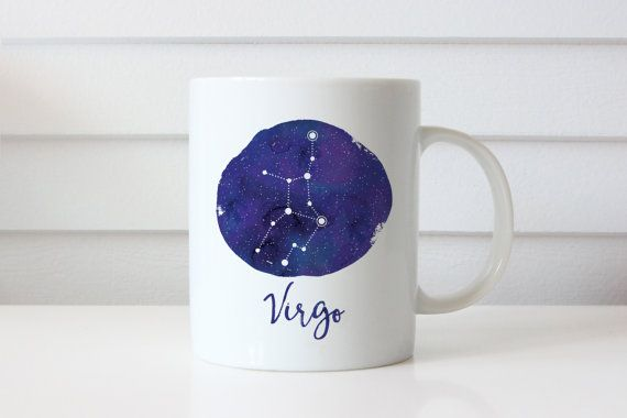 Virgo Sternbild Jungfrau von HeartAndWillowPrints auf Etsy