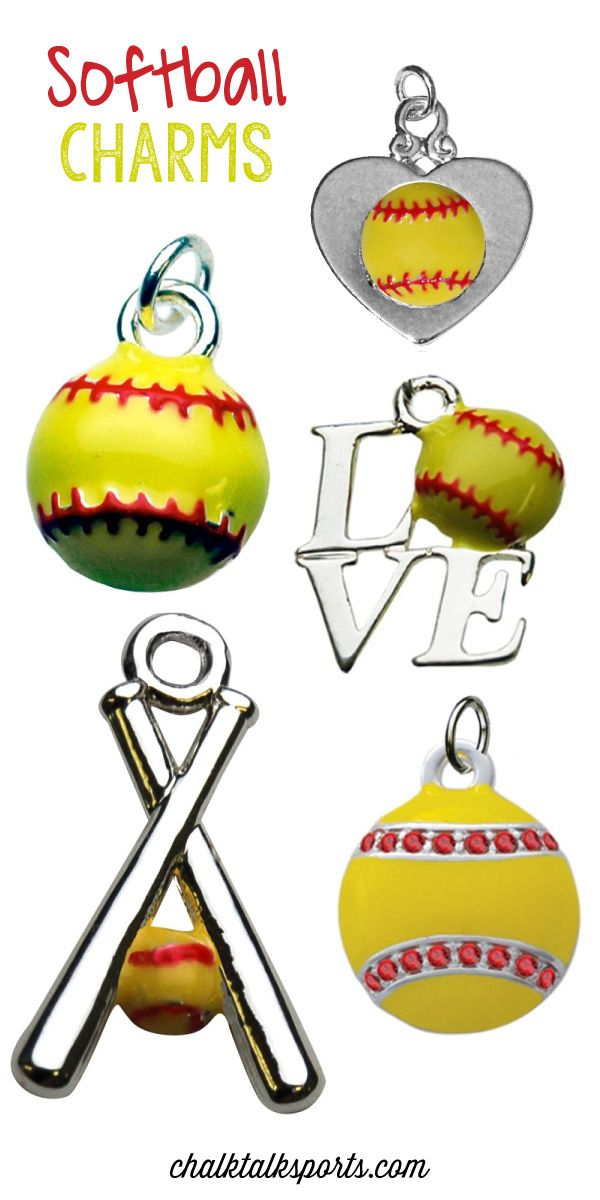Be charming with our Sterling Silver Softball Charms! Add these great charms to any of our softball bracelets to create a custom piece of softball jewelry! It makes a great gift for softball players, softball moms, and softball fans that they will love! Choose from any of our softball and bat, mascot, engraved, or player number charms!