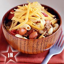 The best one pot dish around! Perfect for fall and great for watching football. It's a Weight Watchers Jennifer Hudson meal but not that I'd call diet food by any standards. I substitute kidney beans for pinto cause I like them better. Enjoy: Weight Watchers, Chili Mac, Call Diet, Diet Foods, Watchers Recipe, Watchers Jennifer, One Pot Dishes, Weightwatchers, Ww Recipe