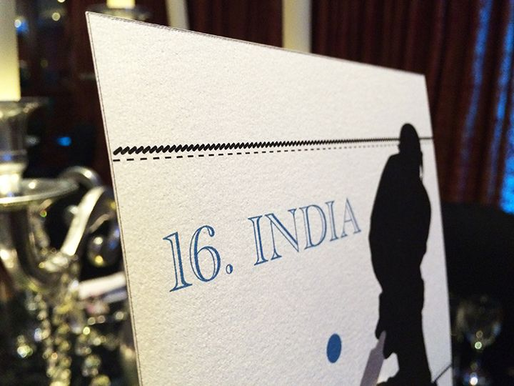 Cricket Themed Table Names for Weddings or Birthdays designed by Doves & Peacocks