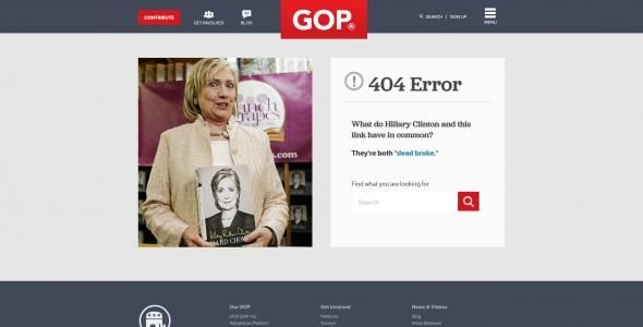 Republican National Committee 404 Page