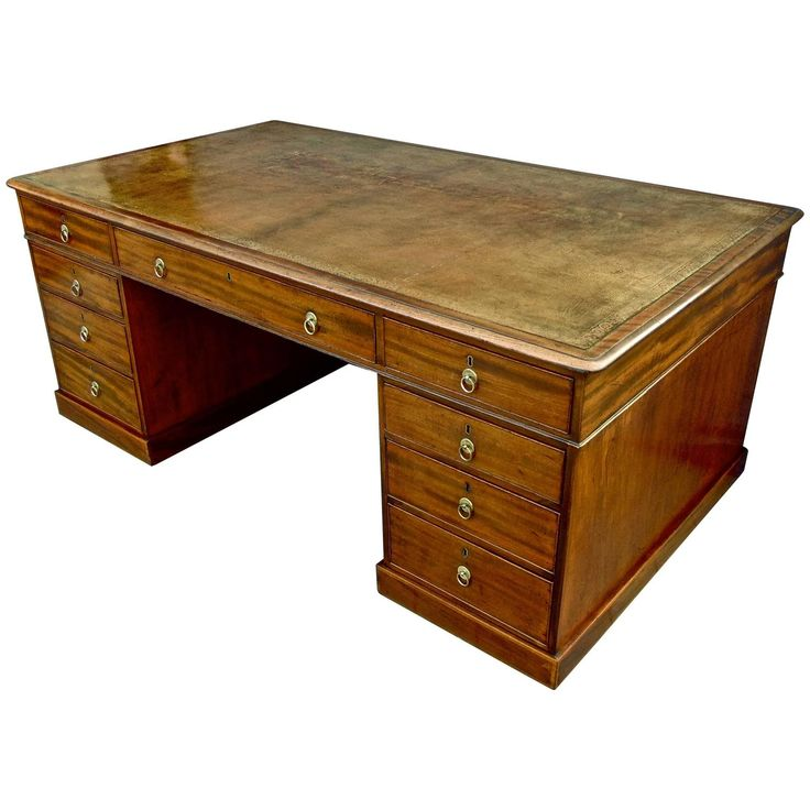 Period George III Mahogany Partner's Desk | From a unique collection of antique and modern desks at https://www.1stdibs.com/furniture/storage-case-pieces/desks/