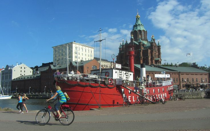 Helsinki Uspenski Cathedral and the Harbour side, Finland. http://www.kontikifinland.com/holidays/destination/1189541/helsinki-porvoo/helsinki-porvoo-day-trip