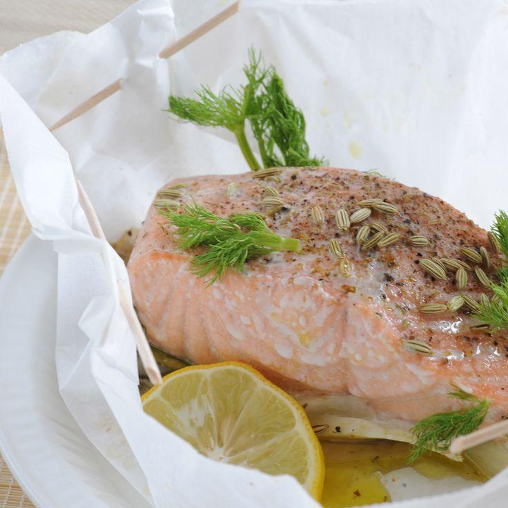 Découvrez la recette des papillotes de saumon au fenouil