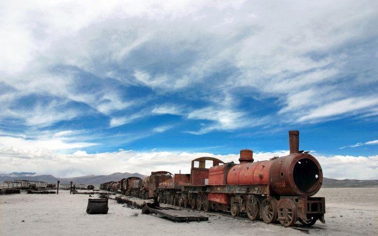 Ένα εγκαταλελειμμένο τρένο στη Βολιβία.  ©Pascal Mannaerts