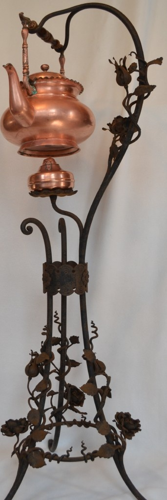 Victorian Iron Tea Stand and Pot