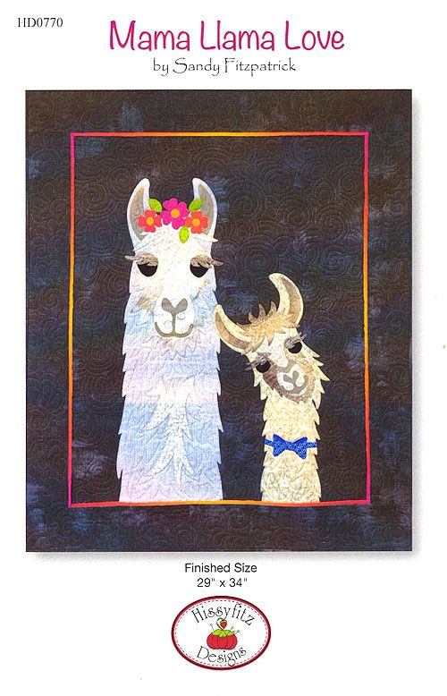 Mama Llama Love Appliqu 233 Pattern By Sandy Fitzpatrick