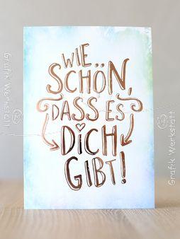 Wie schön - Postkarten - Grafik Werkstatt Bielefeld