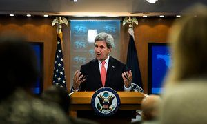 1/5/17 John Kerry blames Britain for derailing Obama's plan for intervention in Syria The US secretary of state made the link explicit between British parliament's vote against air strikes and Obama's failure to enforce his 'red line'