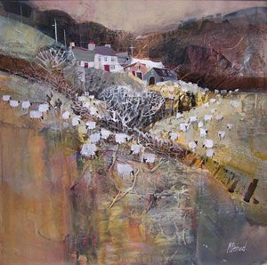 Artist: Mike Bernard; Painting: Yorkshire Farm in Greys