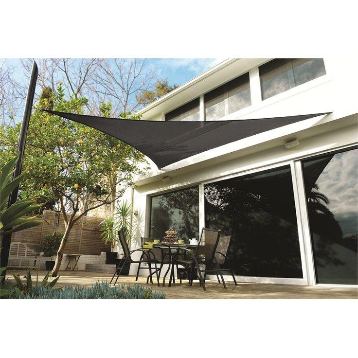 Coolaroo Shade Sail Extreme Triangle 5 x 5m Charcoal