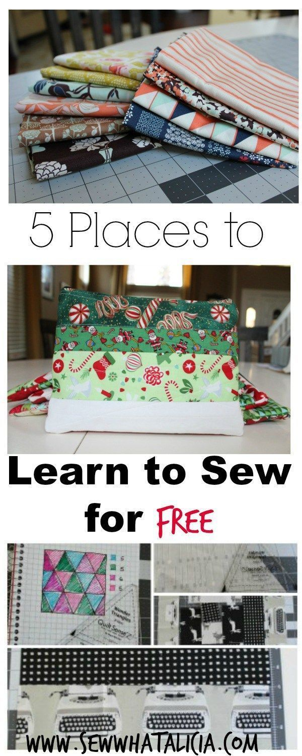5 Places to Learn to Sew for Free - http://www.sewwhatalicia.com