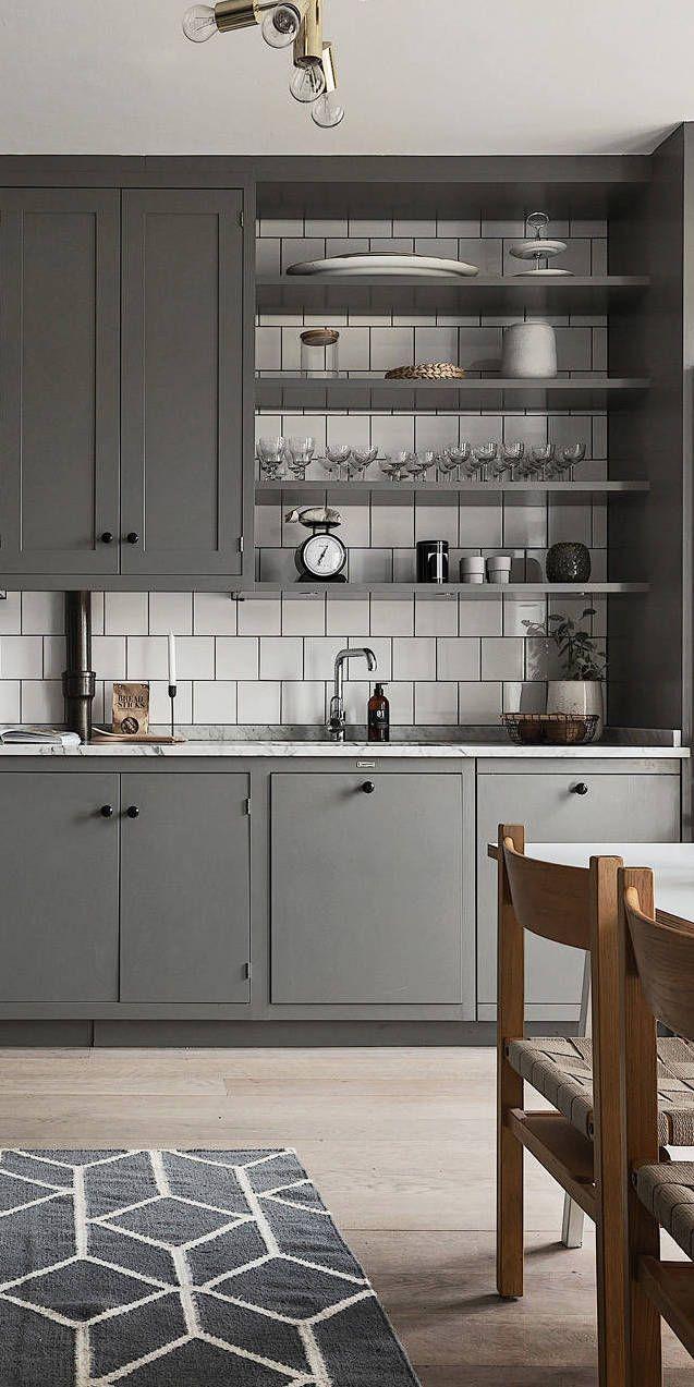 Beautiful living kitchen in grey 162 best